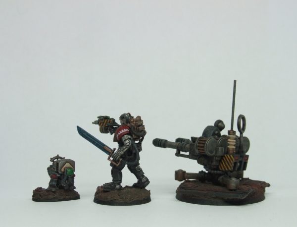 Gun Dog, Skitarii and Tarantula left