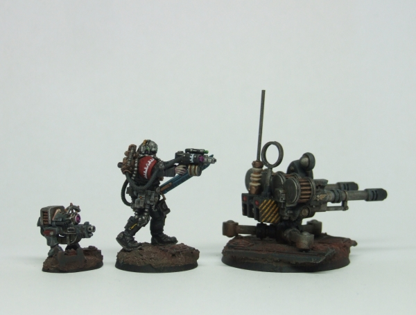 Gun Dog, Skitarii and Tarantula right