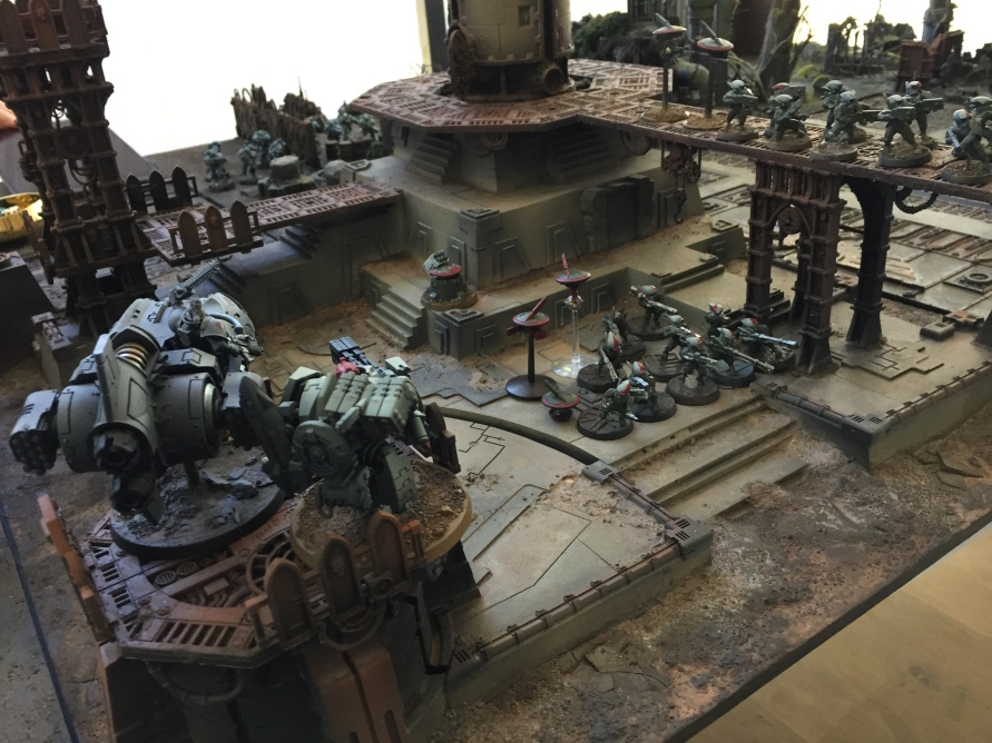 The Tau shock attack force on Lintear