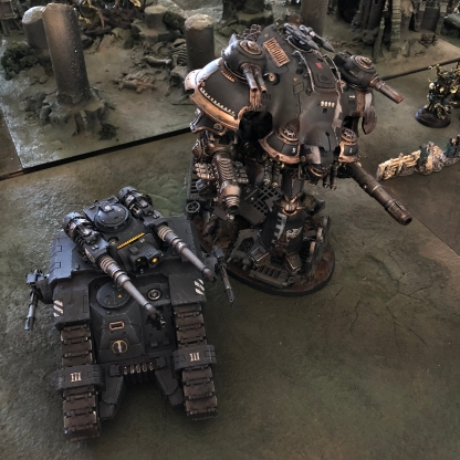 ...with heavy firepower and massive Imperial Knights are brought to Gheal!